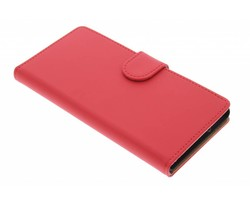 Rood effen booktype hoes Sony Xperia Z3 Plus