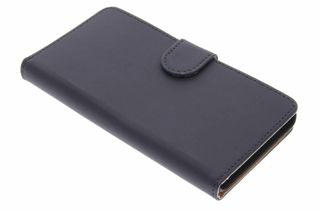 Zwarte effen booktype hoes voor de Huawei G Play Mini
