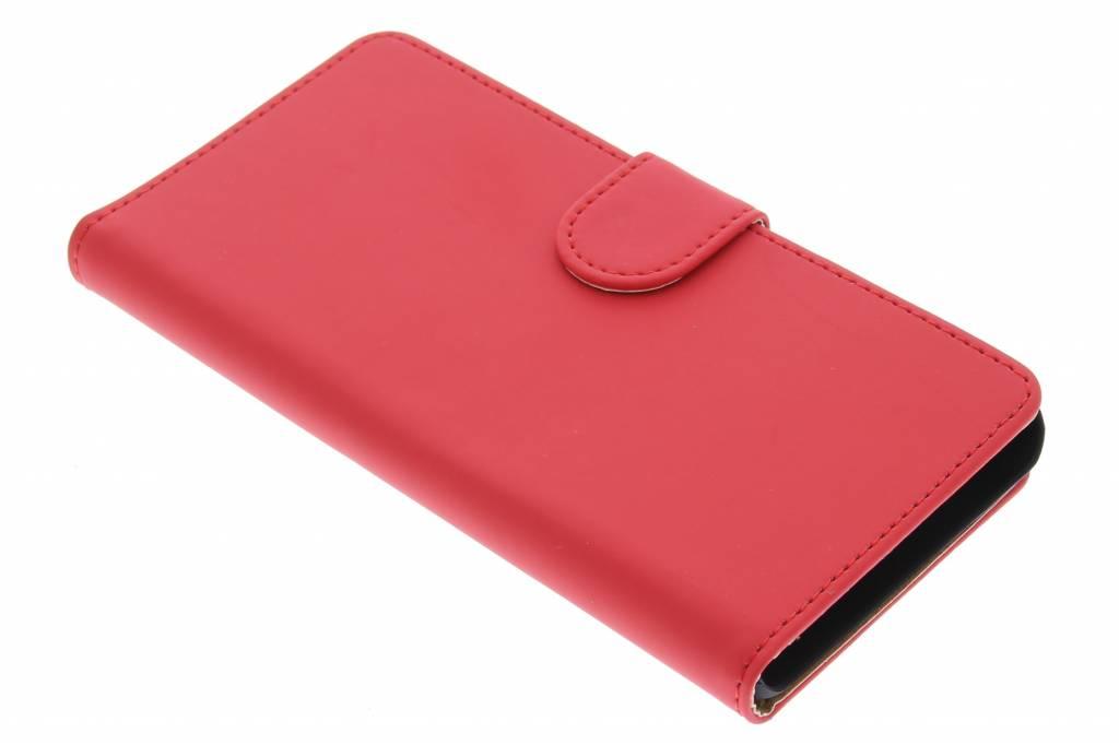 Rode effen booktype hoes voor de Huawei G Play Mini