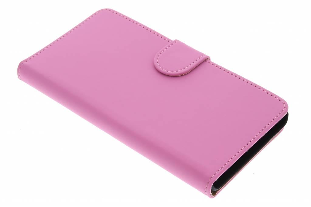 Roze effen booktype hoes voor de Huawei G Play Mini