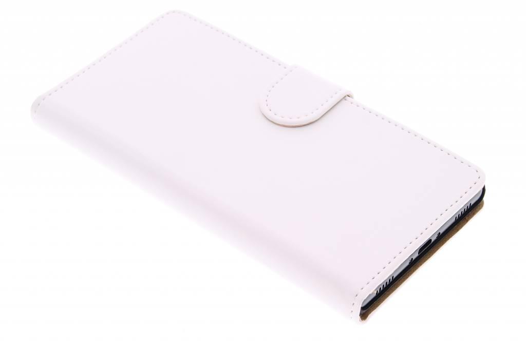 Witte effen booktype hoes voor de Huawei P8