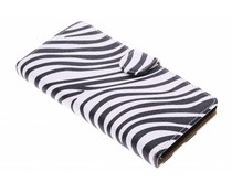 Wit zebra booktype hoes Sony Xperia Z3 Plus