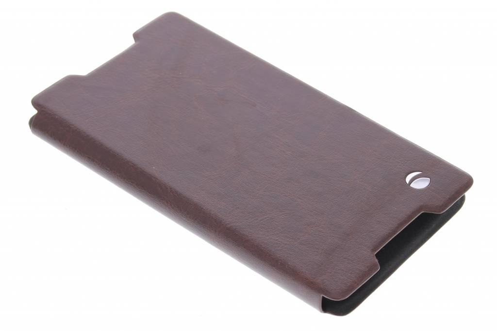 Krusell Ekerö FolioSkin voor de Sony Xperia Z3 Plus - bruin