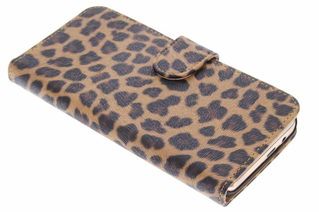 Bruine luipaard booktype hoes voor de HTC One M9