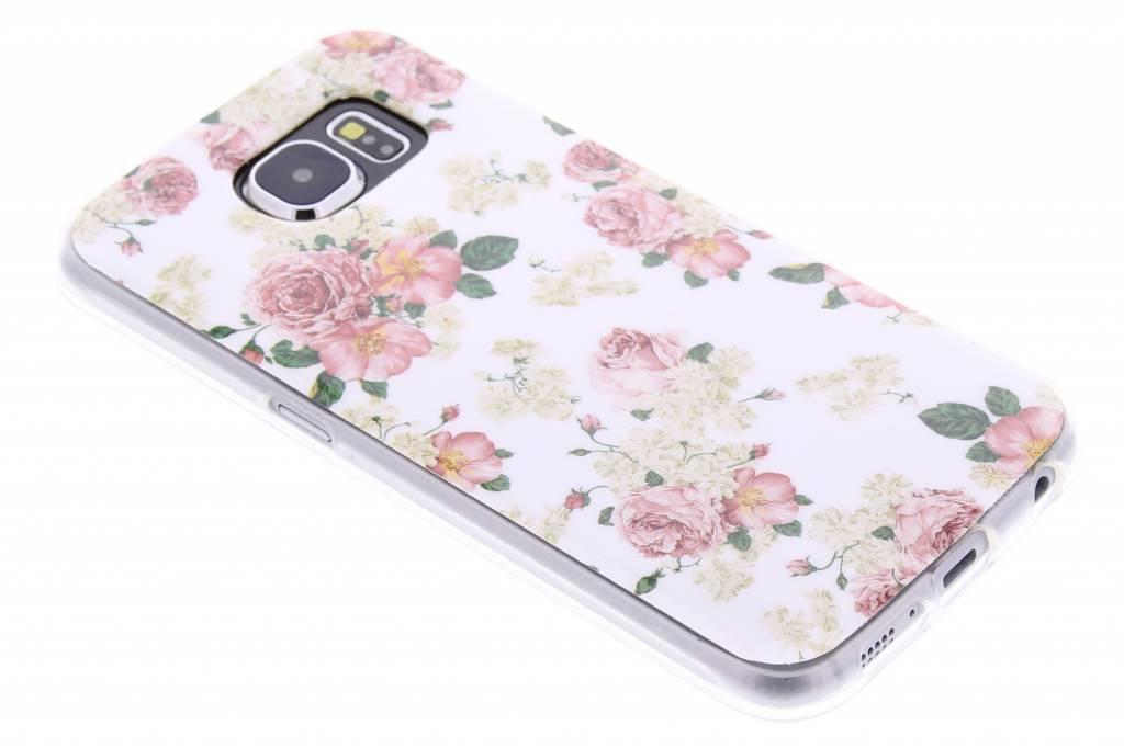 Roosjes design TPU siliconen hoesje voor de Samsung Galaxy S6