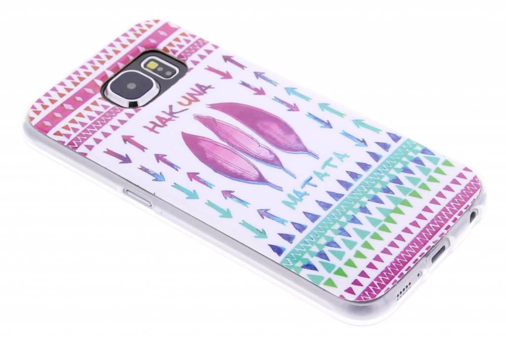 Hakuna matata design TPU siliconen hoesje voor de Samsung Galaxy S6