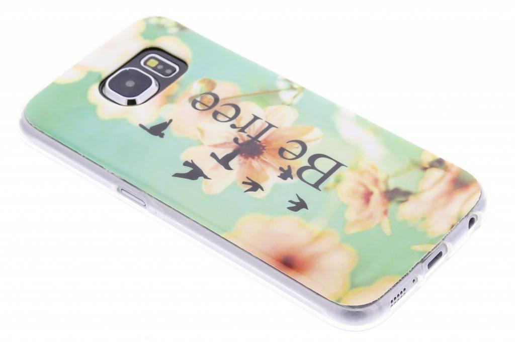 Be free design TPU siliconen hoesje voor de Samsung Galaxy S6