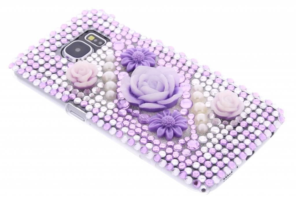 Bloemen design BlingBling hardcase hoesje voor de Samsung Galaxy S6