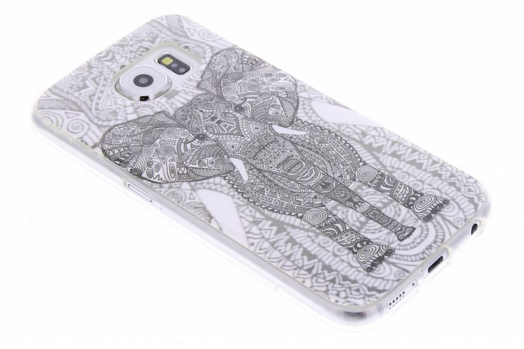 Olifant design TPU siliconen hoesje voor de Samsung Galaxy S6