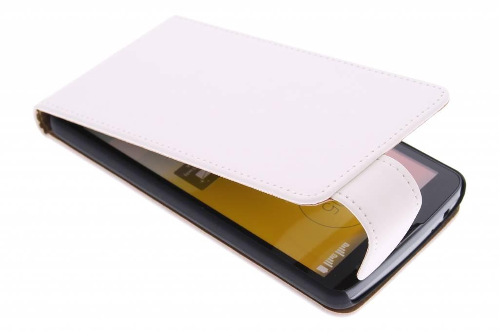 Witte classic flipcase voor de LG L Bello / L80 Plus