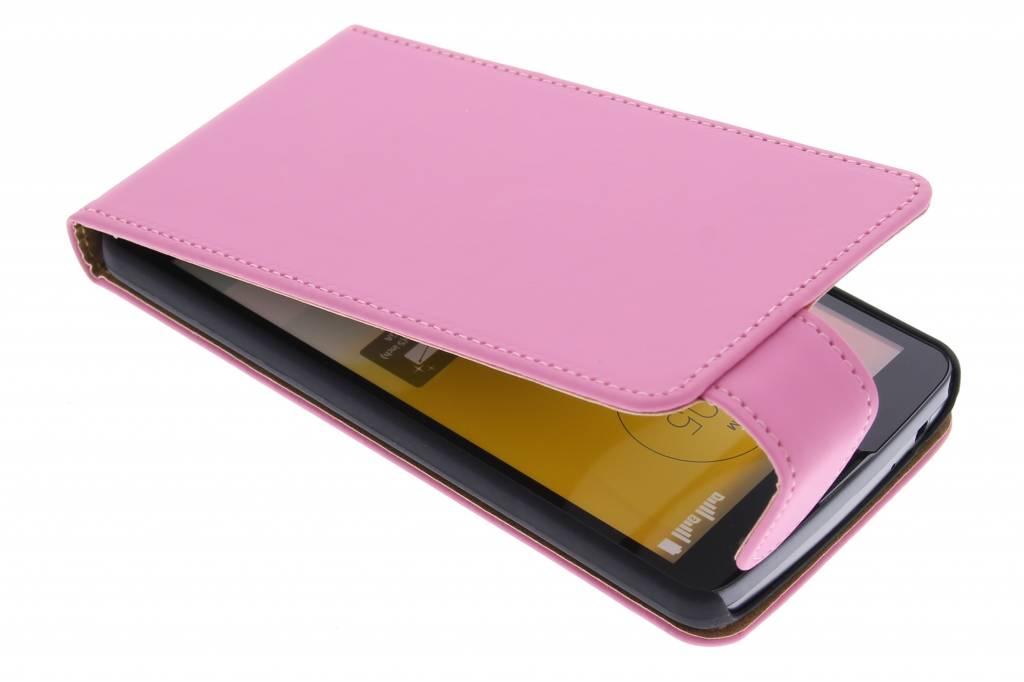 Roze classic flipcase voor de LG L Bello / L80 Plus