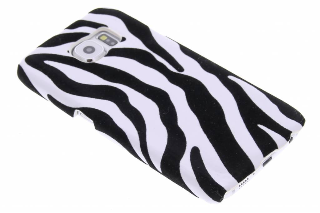 Zebra flock hardcase hoesje voor de Samsung Galaxy S6