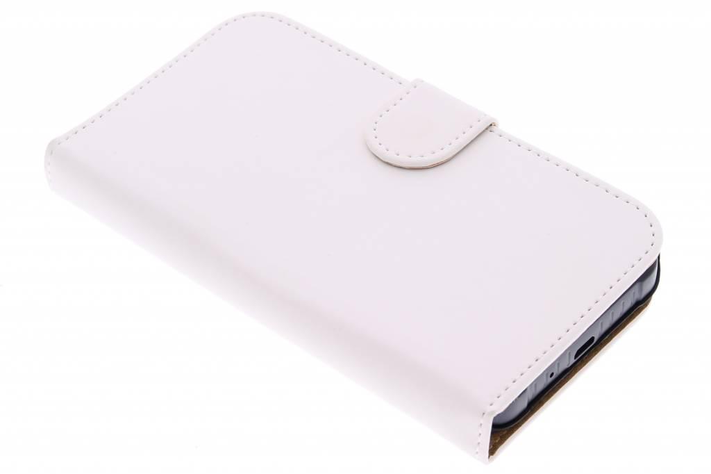 Witte effen booktype hoes voor de Samsung Galaxy Xcover 3