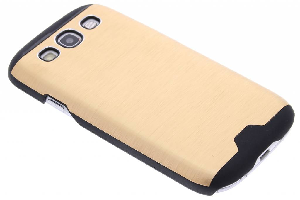 Goud brushed aluminium hardcase hoesje voor de Samsung Galaxy S3 / Neo