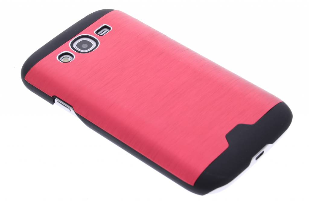 Rood brushed aluminium hardcase hoesje voor de Samsung Galaxy Grand (Neo)