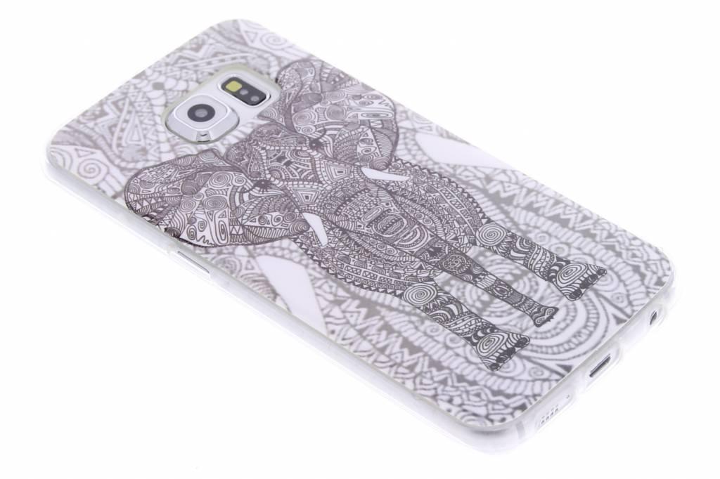 Olifant design TPU siliconen hoesje voor de Samsung Galaxy S6 Edge