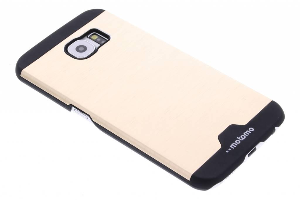 Goud brushed aluminium hardcase hoesje voor de Samsung Galaxy S6