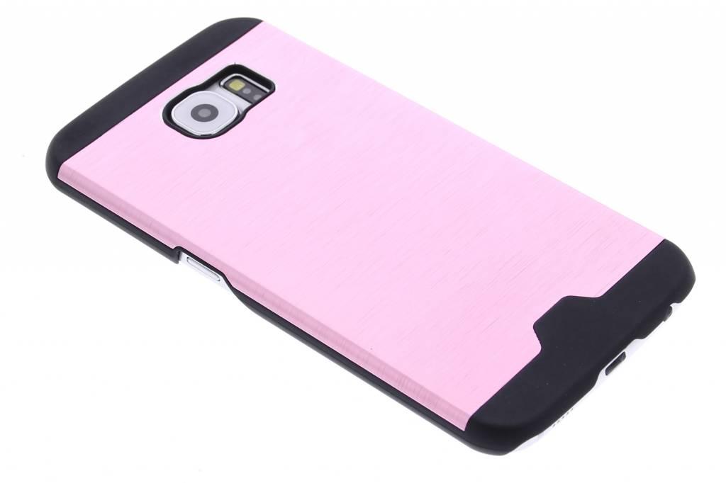 Roze brushed aluminium hardcase hoesje voor de Samsung Galaxy S6
