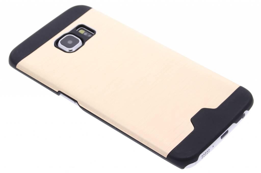 Goud brushed aluminium hardcase hoesje voor de Samsung Galaxy S6 Edge