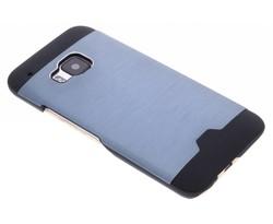 Blauw brushed aluminium hardcase HTC One M9