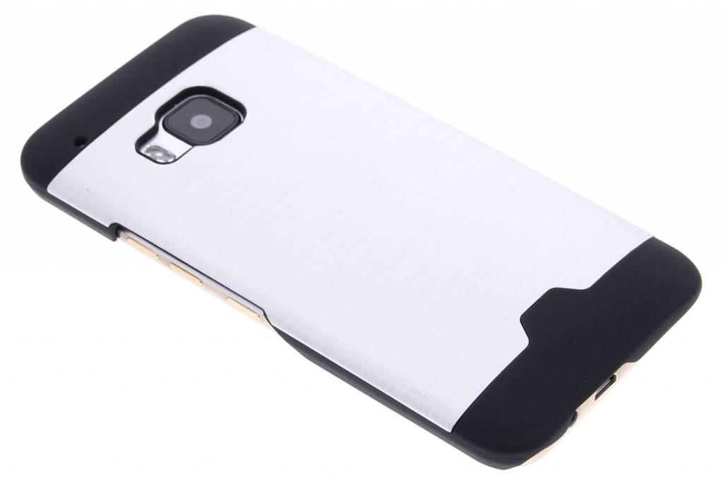 Zilver brushed aluminium hardcase hoesje voor de HTC One M9