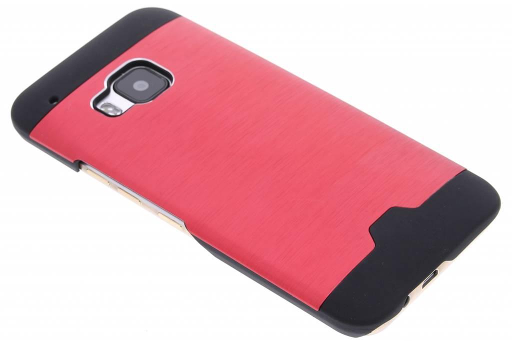 Rood brushed aluminium hardcase hoesje voor de HTC One M9