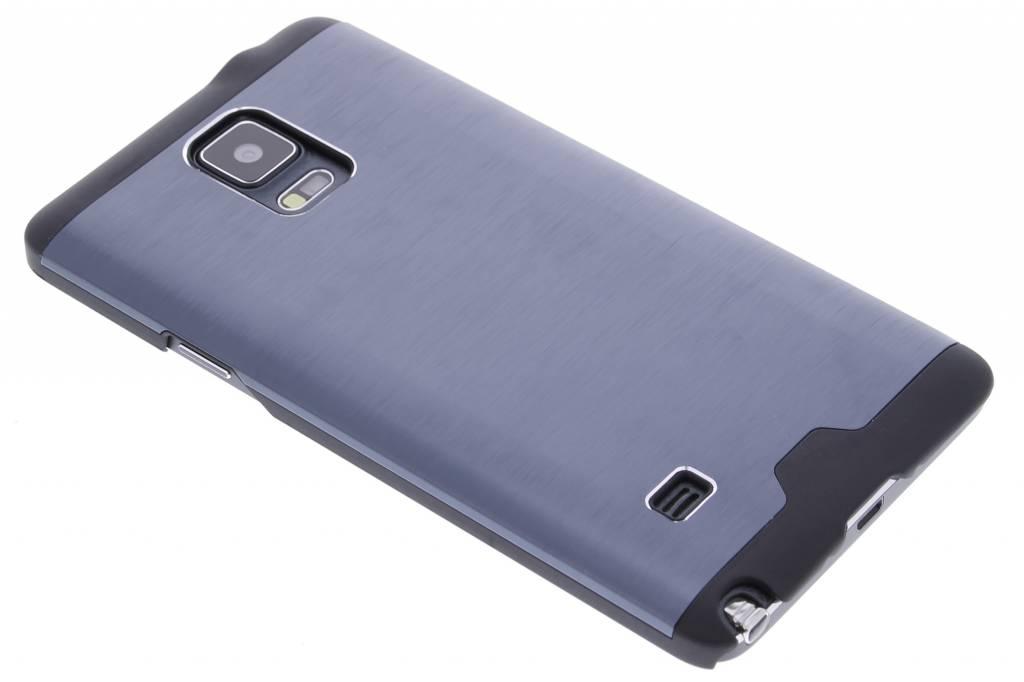 Donkerblauw brushed aluminium hardcase hoesje voor de Samsung Galaxy Note 4