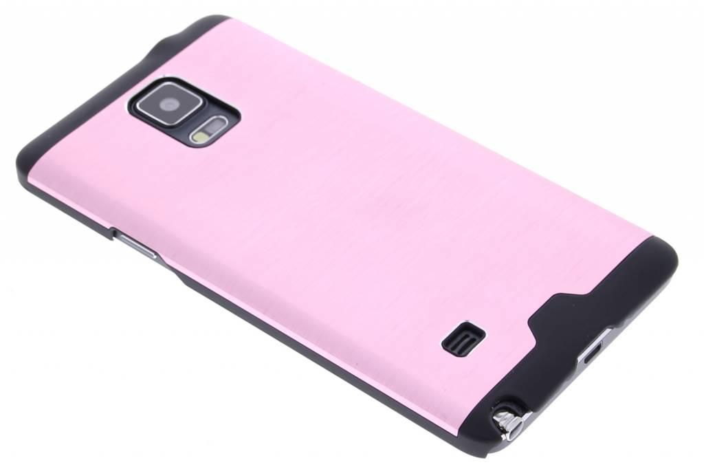 Roze brushed aluminium hardcase hoesje voor de Samsung Galaxy Note 4