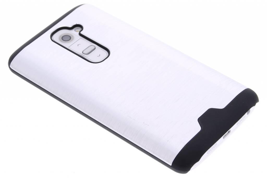 Zilver brushed aluminium hardcase hoesje voor de LG G2
