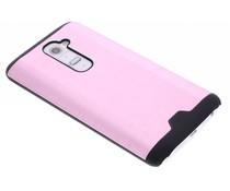Roze brushed aluminium hardcase hoesje LG G2