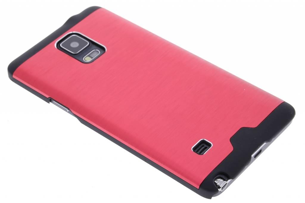 Rood brushed aluminium hardcase hoesje voor de Samsung Galaxy Note 4