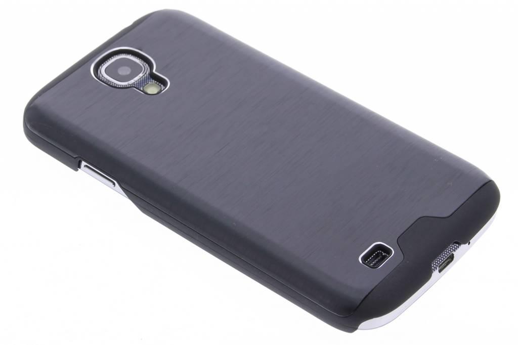 Zwart brushed aluminium hardcase hoesje voor de Samsung Galaxy S4