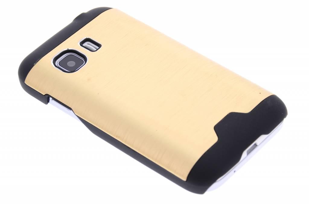 Goud brushed aluminium hardcase hoesje voor de Samsung Galaxy Young 2