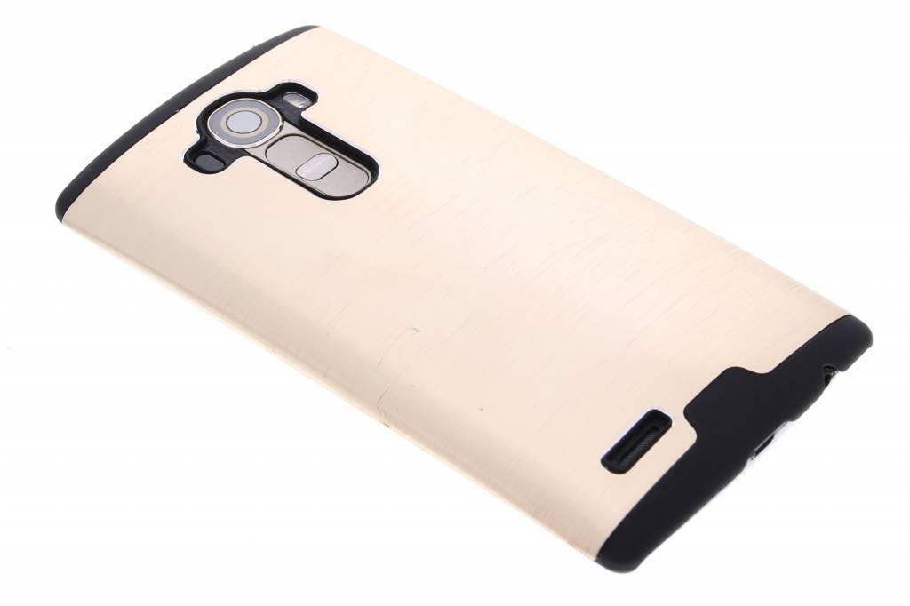 Goud brushed aluminium hardcase hoesje voor de LG G4