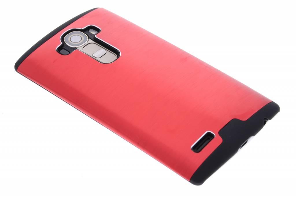 Rood brushed aluminium hardcase hoesje voor de LG G4