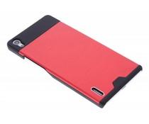 Rood brushed aluminium hardcase Huawei Ascend P7