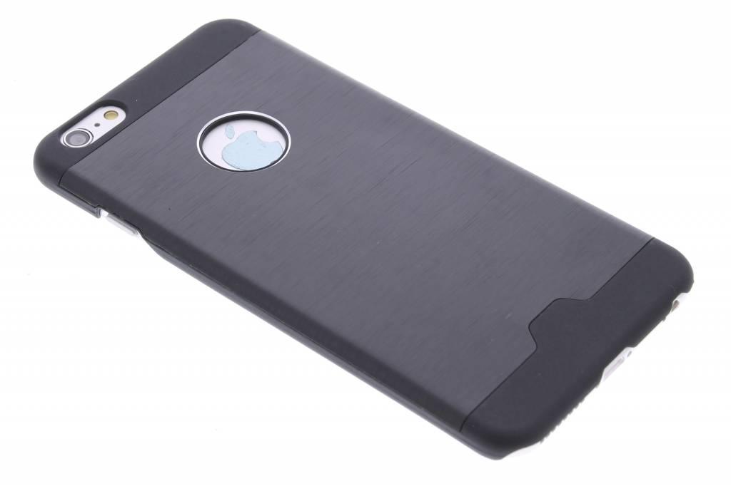 Zwart brushed aluminium hardcase hoesje voor de iPhone 6(s) Plus