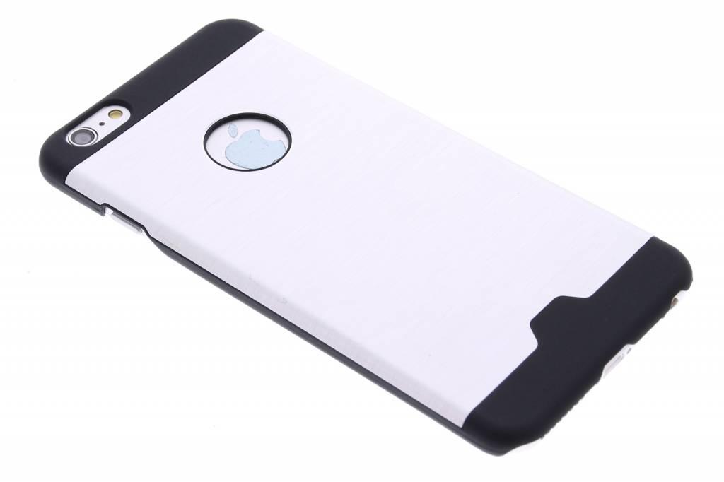 Zilver brushed aluminium hardcase hoesje voor de iPhone 6(s) Plus