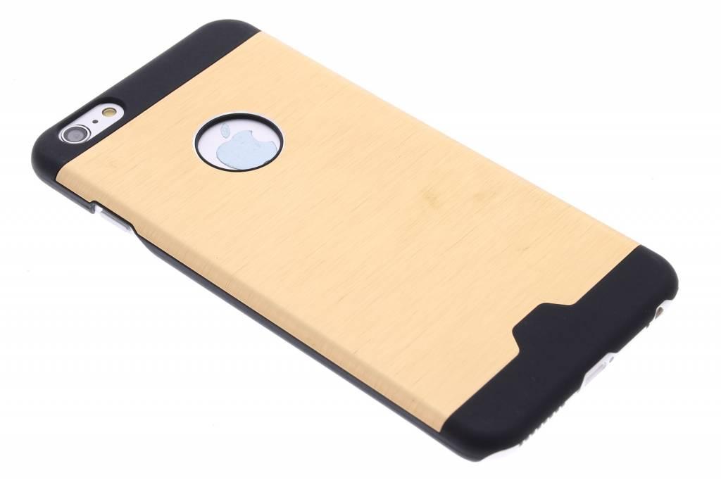 Goud brushed aluminium hardcase hoesje voor de iPhone 6(s) Plus