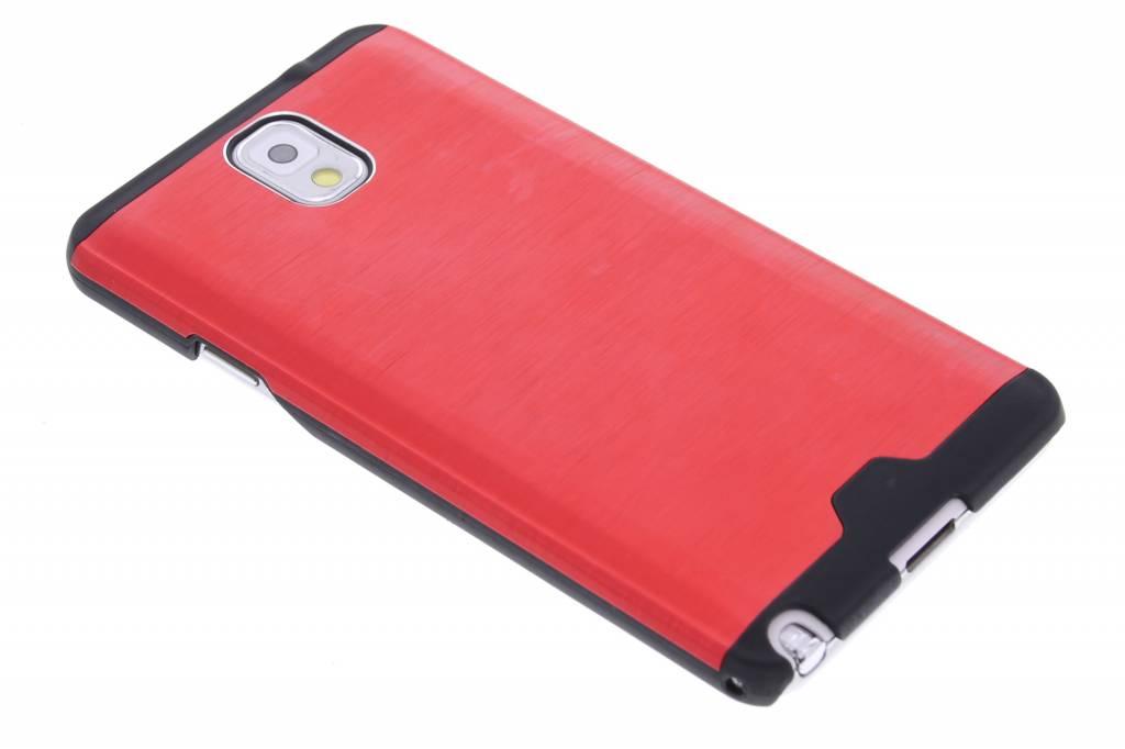 Rood brushed aluminium hardcase hoesje voor de Samsung Galaxy Note 3