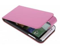 Roze classic flipcase HTC Desire 510