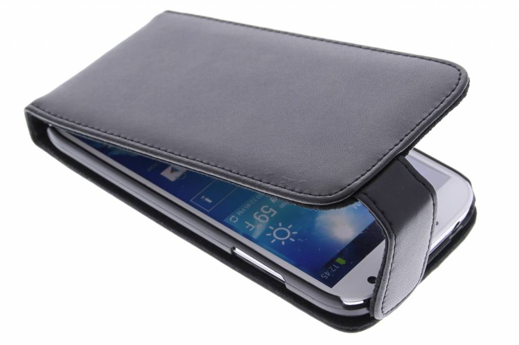 Zwarte stijlvolle flipcase voor Samsung Galaxy s4 i9500