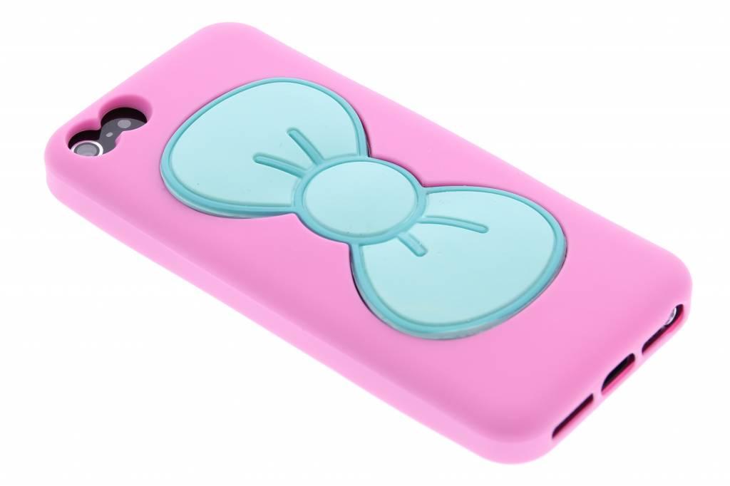 Roze click strik TPU siliconen hoesje voor de iPhone 5 / 5s / SE