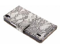 Zwart glamour design booktype Huawei Ascend P7