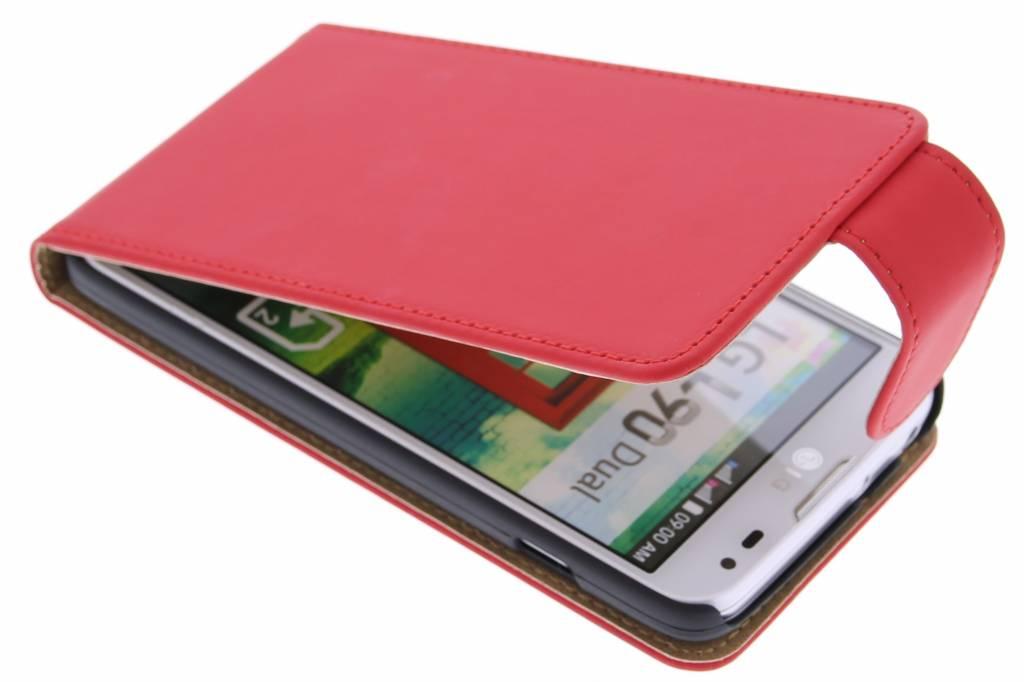 Rode classic flipcase voor de LG L90