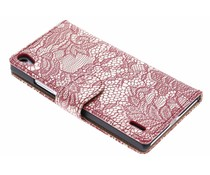 Rood glamour design booktype Huawei Ascend P7
