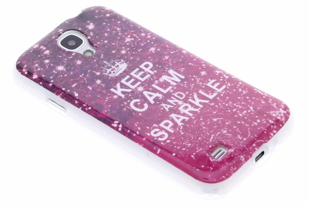 Keep Calm and Sparkle design TPU siliconen hoesje voor de Samsung Galaxy S4