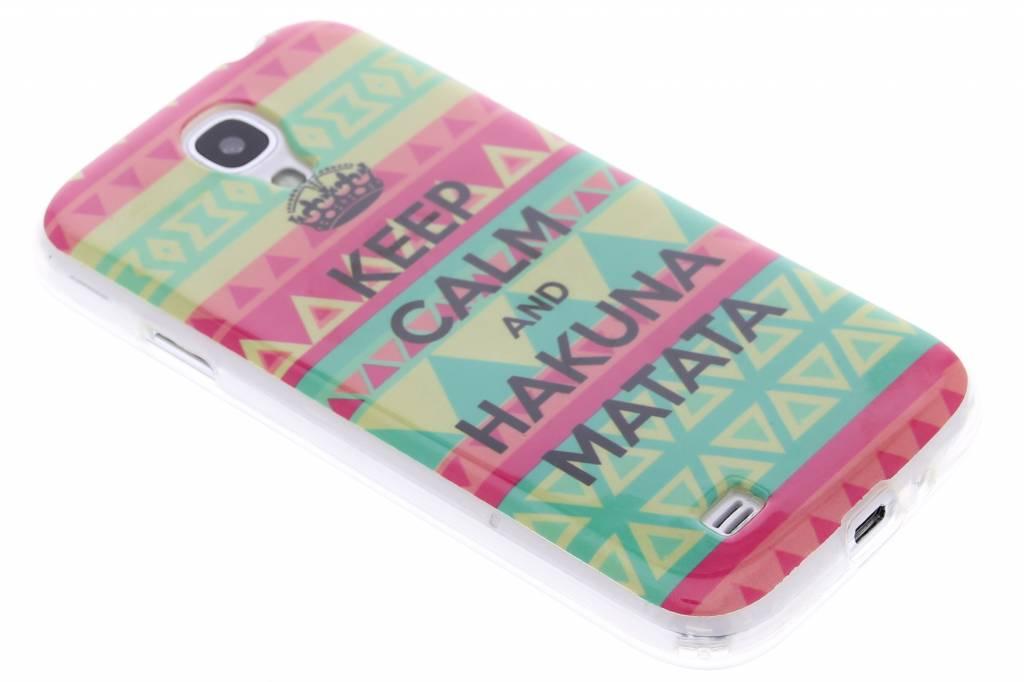 Hakuna Matata design TPU siliconen hoesje voor de Samsung Galaxy S4