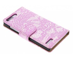 Roze glamour design booktype Huawei Ascend G6