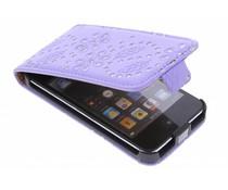 Lila bloemblad design flipcase iPod Touch 4g